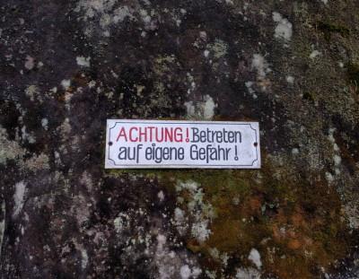 Höhlentour im Elbsandstein-Gebirge